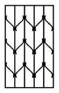 10.biztonsági rács minta – V