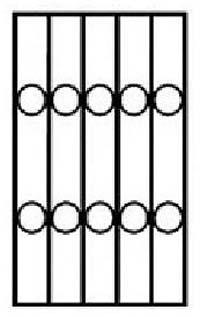 8.biztonsági rács minta karika
